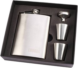 Steel Hip Flask Set With Peg Measure And Funnal