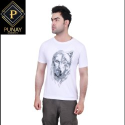 Printed Cotton Round Neck Casual T-Shirt, Quantity Per Pack: 1