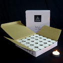 The Light Of Eden Tealight Candle White (set Of 50 Pcs With 4 Hours Of Burn Time)
