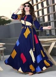 Ladies Blue Fancy Kurti