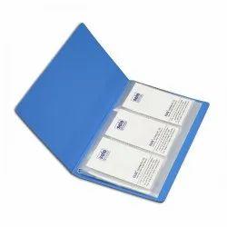 Blue Plastic Visiting Card Holder, For Office