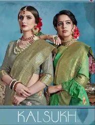 YNF Kalsukh Linen Art Silk Saree