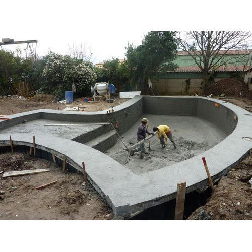 installation concrete swimming pool construction service service