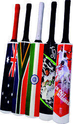 SYN6 White Duco Painted with Various Designs Painted Bats - Exclusive Finish