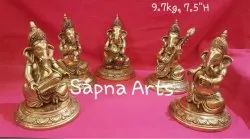 Swethamber Arts Musical Ganesh Set Of 5