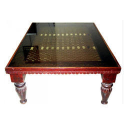 Wooden Glass Table