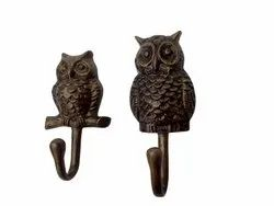 Metal Wall Mount Owl Coat Hook