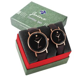 Jainx Copper Dial Analog Couple Watch JC462