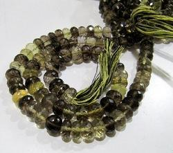 Top Quality Natural Bio Lemon Quartz Rondelle Faceted Beads,