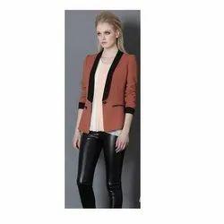 Plain Orange Women Designer Blazer