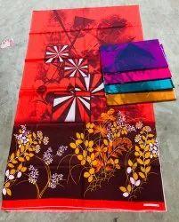 Cotton Printed Nighty Fabric, Multicolour