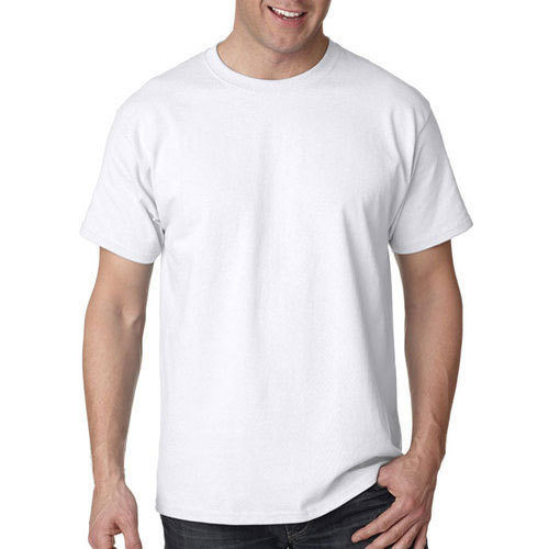 f9e5ee8450f Men  s Cotton White Plain T Shirt