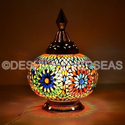 Acc To Standard Mosaic Glass Lamp