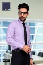 Lavender Micro Stripes Formal Uniform Readymade Shirt for Corporate Look MS-93002