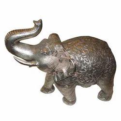 White Metal Decorative Elephant
