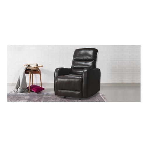 Durian Compact Robert 1 Seater Leather Manual Rocker Recliner Sofa