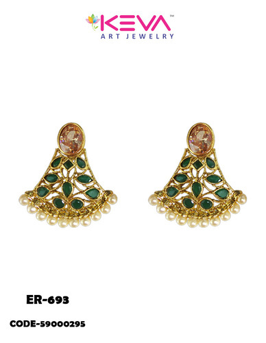 Designs Of Gold Ear Tops Earrings
