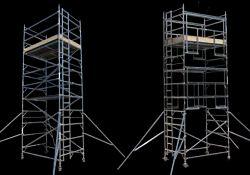 Aluminium Tower Ladder, Model Name/Number: Mobile Aluminum Scaffold, 4 Nos Whels
