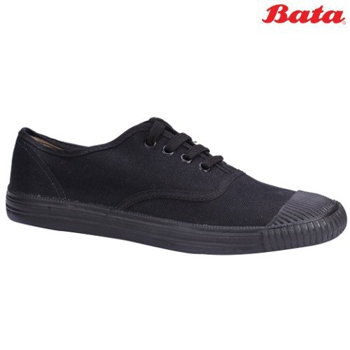 Bata Tennis CN Black Lace Up Canvas