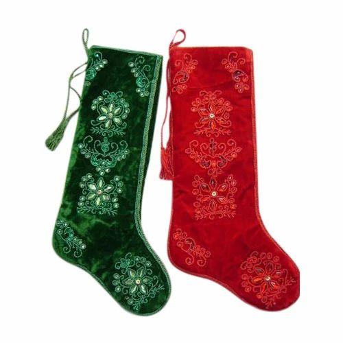 Designer Christmas Stocking at Rs 245 /piece | Christmas Stockings ...