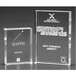 Plaque Crystal Award