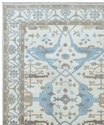 Hand- Knotted Large Decorative Oushak Rug