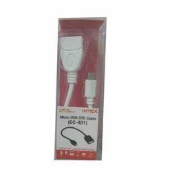 White Intex Micro USB OTG Cable DC 401