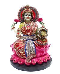 Paras Lakshmi Statue Red & Blue