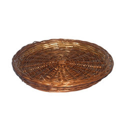Bamboo Willow Plain Round Basket