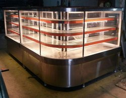 Clear Glass Sweet Display Showcase, Warranty: 1 Year