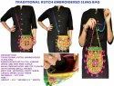Women's Kutch Embroidered Purse - Side Sling Bag