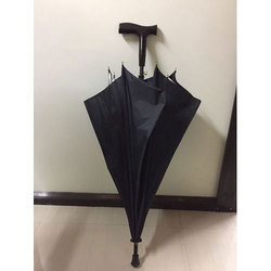 Black Stick Rain Umbrella, Size: 23x8 inch