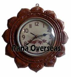 Wooden Flower Shape Wall Clock