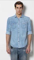 Cotton Van Heusen Blue Shirt VDSF317D02120, Size: 38