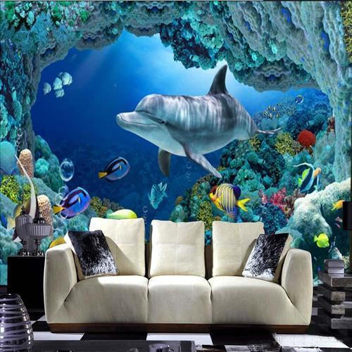 Multicolor Horizontal Interior 4D Wallpaper, Thickness: 350 GSM