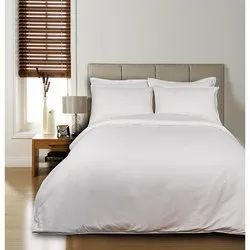 White Plain Bedsheet with Two pillow Covers