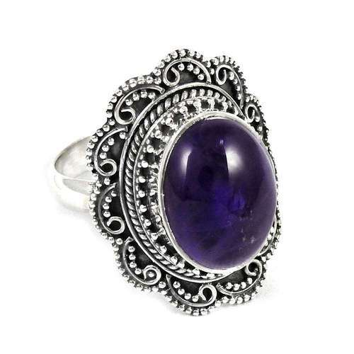 7d7df882a5d906 Big Dreamer 925 Sterling Silver Amethyst Ring at Rs 1131 /piece ...