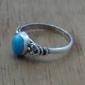 Larimar Gemstone 925 Sterling Silver Ring Jewelry