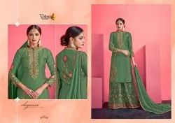 Volono Satin Georgette Suit
