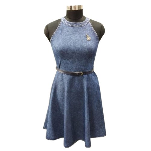 5f66dbe3e0 M To XXL Stitched Denim Midi Dress