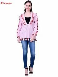 Gorgy Women Top with Tassel