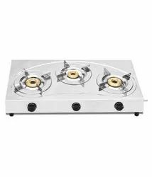 Stainless Steel Manual Gas Stove (3 Burners)