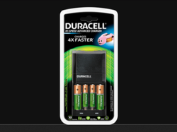 Black Duracell Hi-Speed Advanced Battery Cells