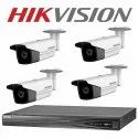 Hikvision 2MP IP Camera Kit  4CH NVR,  Bullet Camera 4 pcs, 1TB Hard Drive, 4CH Poe Switch