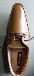 Leather Shoe With Lase
