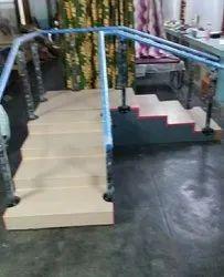 Mild Steel Wooden Stair Case