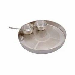 German Silver Tilak Thali