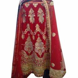 Red Georgette Ladies Bridal Wear Lehenga Choli