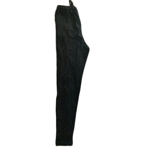 Ladies Cotton Black Plain Pyjama, Size: S-L