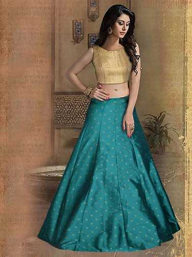 bbef43fc0 Brocade Fabric Exclusive New Designer Lehengas, Rs 694 /piece | ID ...